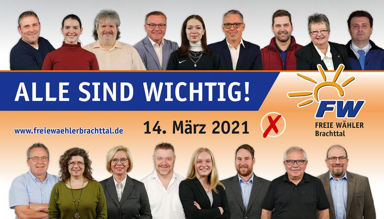 Das sind sie: Die Kandidatinnen/Kandidaten der FWB für die Kommunalwahl 2021