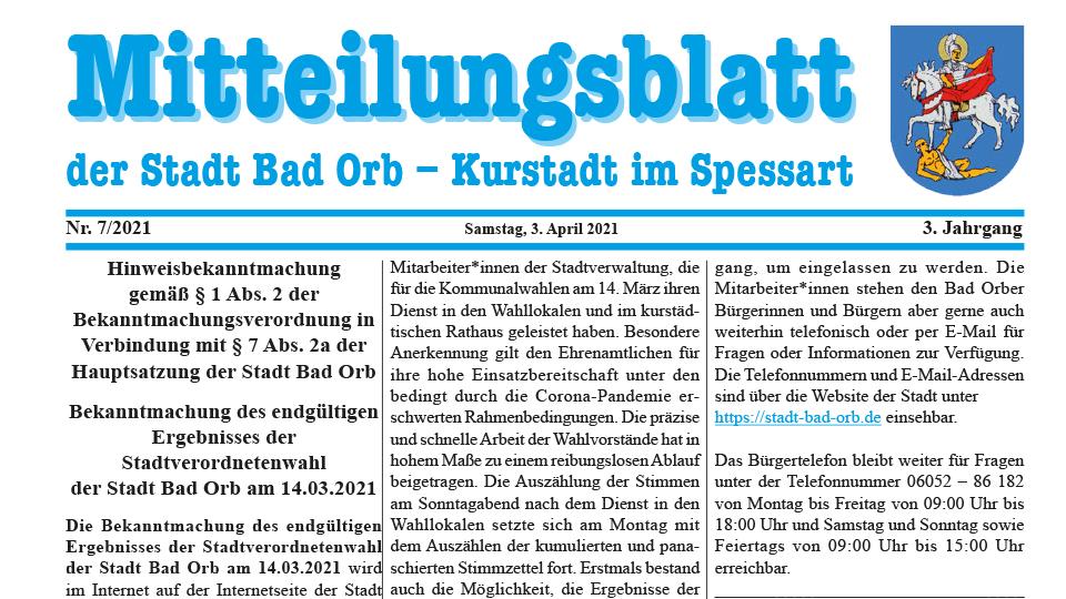 Mitteilungsblatt 2021/7