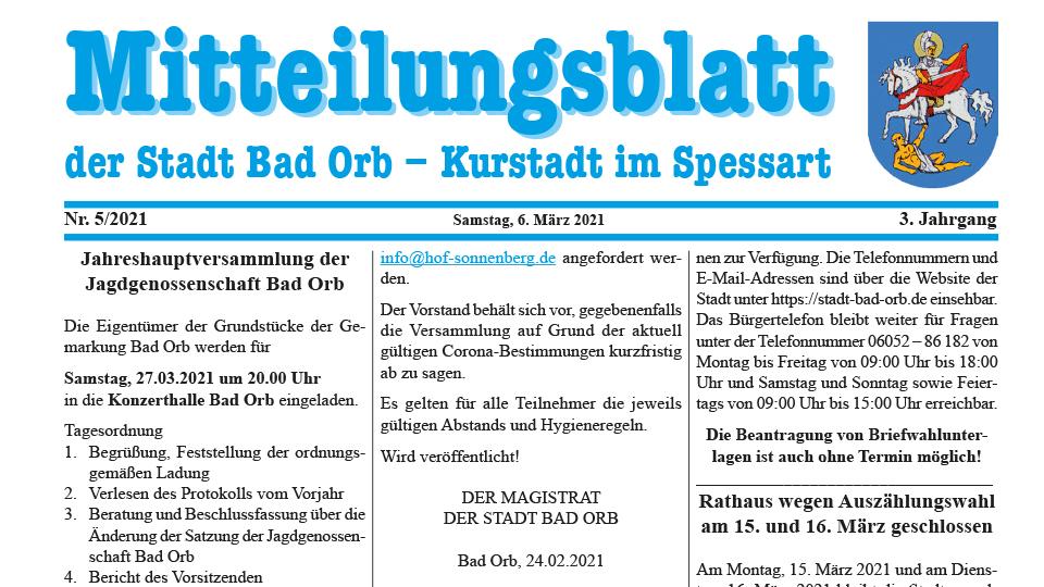 Mitteilungsblatt 2021/5