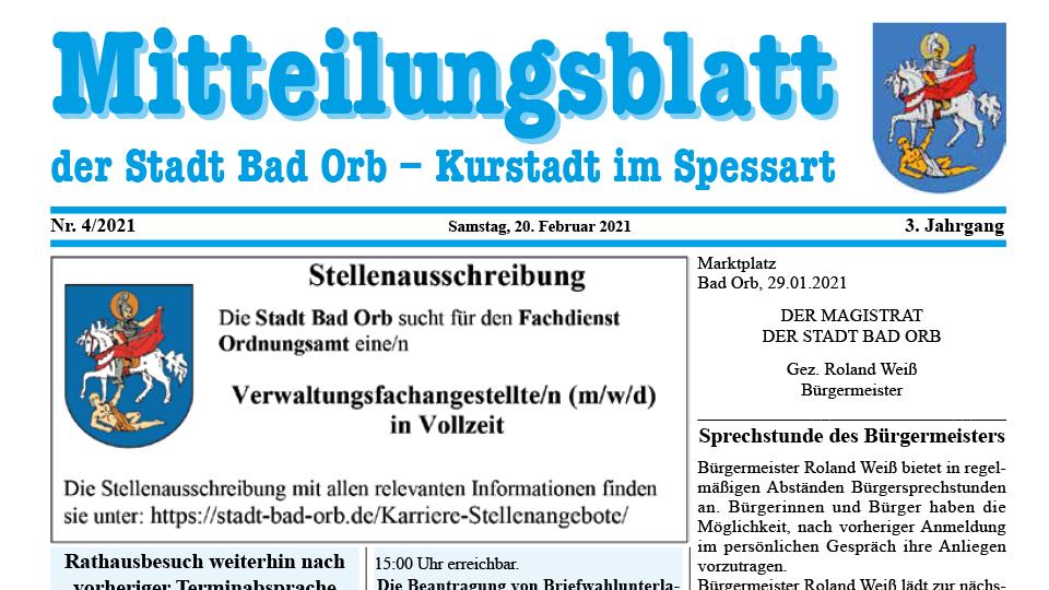 Mitteilungsblatt 2021/4