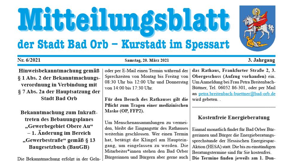 Mitteilungsblatt 2021/6