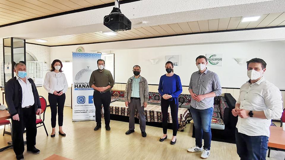 Leikert im Gespräch mit dem Islamischen Verein Hanau