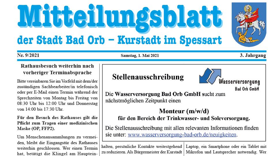 Mitteilungsblatt 2021/9