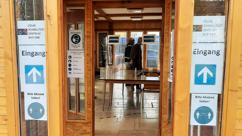 Schnelltestzentrum Bad Orb im ehemaligen Verkehrsbüro