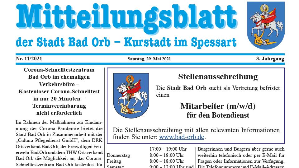 Mitteilungsblatt 2021/11