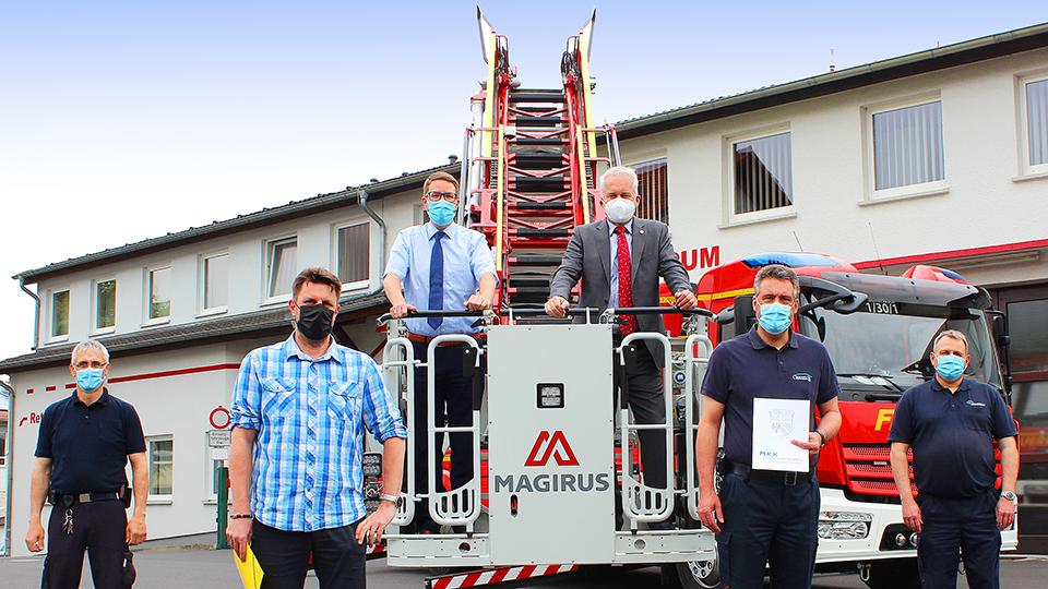 Kreis unterstützt Wächtersbach beim Kauf einer Feuerwehr-Drehleiter