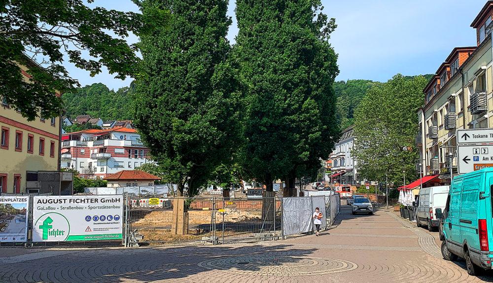 Der Orber Salinenplatz wird umgebaut. Bild: Printhouse Bad Orb / ten